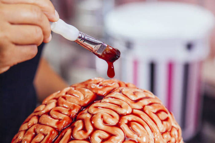 How To Make The Perfect Red Velvet Brain Halloween Cake (8 pics + video)