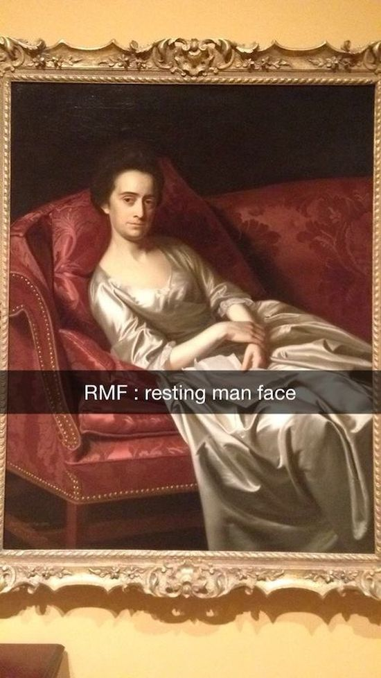 Hilarious Snapchats That Make Historic Art So Much Better (18 pics)