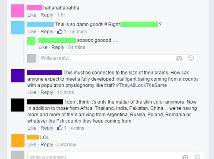 Mother Puts Racist Guy In His Place (6 pics)