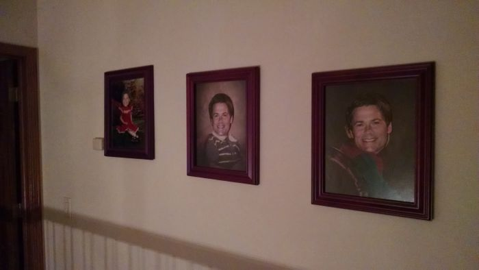 Kids Prank Their Parents By Posting Rob Lowe Faces Everywhere (6 pics)