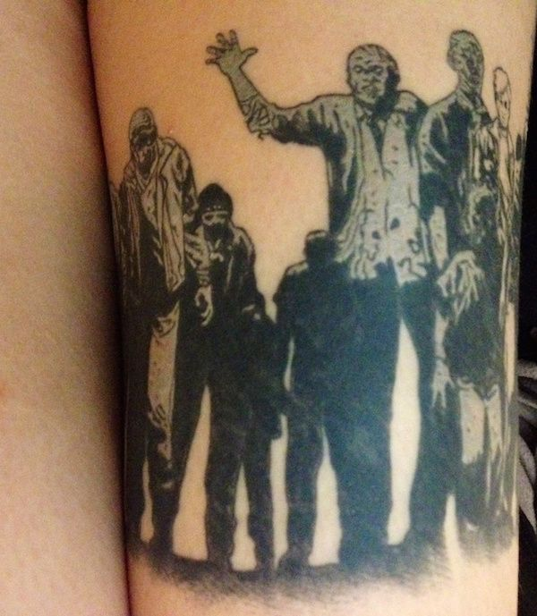 It's Scary How Good These Walking Dead Tattoos Are (21 pics)