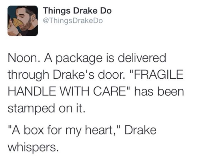 Go Inside Drake's Head With Things Drake Does (10 pics)