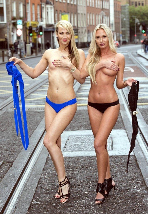 The Contestants Of Miss Bikini Ireland 2015 Take Their Tops Off For A Photo Shoot (12 pics)