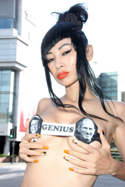 Chinese Actress Bai Ling Wears Bizarre Outfit In The Streets Of LA (19 pics)