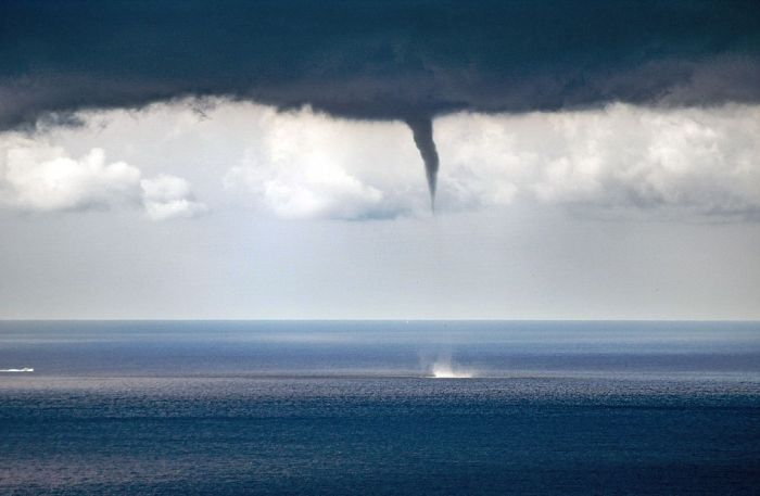 Massive Waterspout Splashes Down On The Coast Of Italy (9 pics)