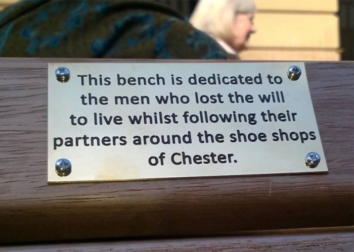 Pranksters Are Putting Hilarious Signs On Park Benches In England (4 pics)