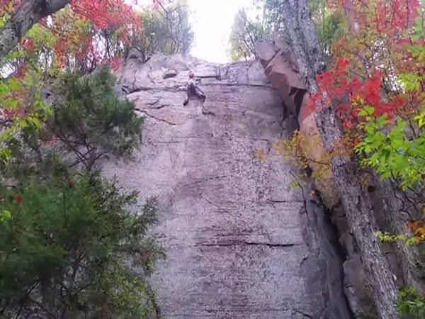 Rock Climber Fall Down