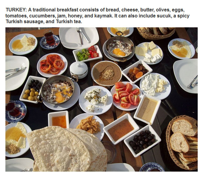 What Countries Around The World Eat For Breakfast (27 pics)