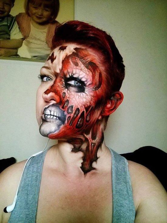 Artist Uses Makeup To Create Creepy Monsters For Halloween (23 pics)