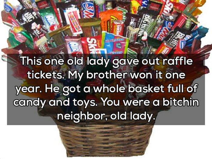 Trick Or Treaters Reveal The Strangest Things They've Received On Halloween (11 pics)
