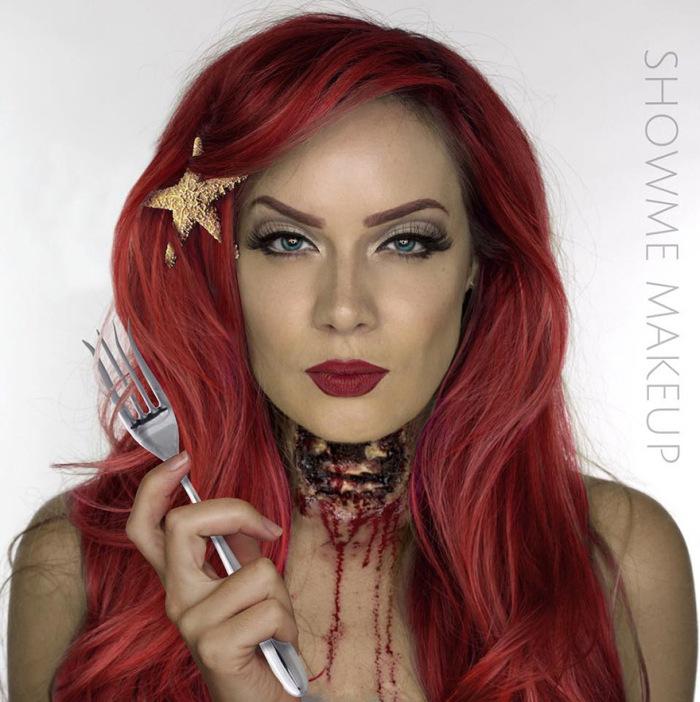 Make Up Artist Turns Models Into Dead Disney Princesses (6 pics)