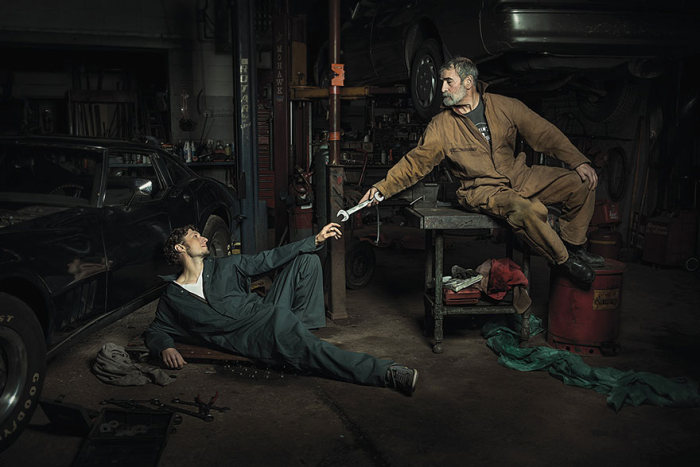 Awesome Auto Mechanics Recreate Renaissance Paintings (6 pics)