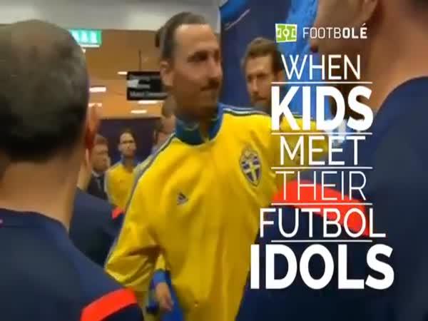 When Kids Meet Their Football Idols