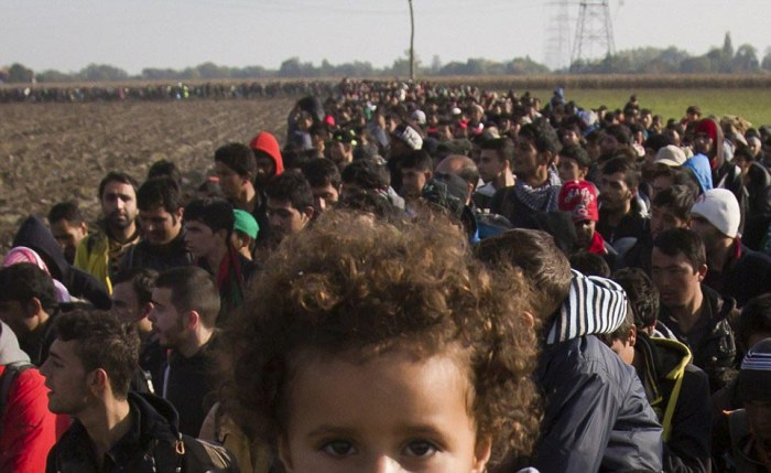 Thousands March Across The Balkans In An Attempt To Reach Western Europe (6 pics)