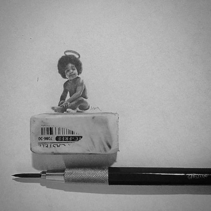 Artist Recreates Celebrity Photos Using Only A Pencil (20 pics)