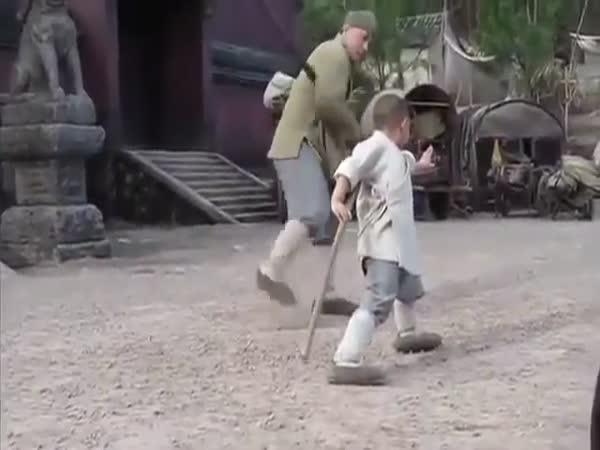 Jackie Chan Teaches A Boy