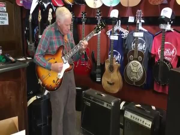 Grandfather Plays Guitar