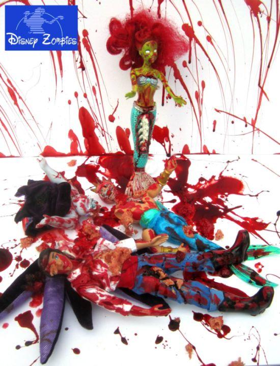 Matt Christensen Turns Disney Princesses Into Zombies (8 pics)