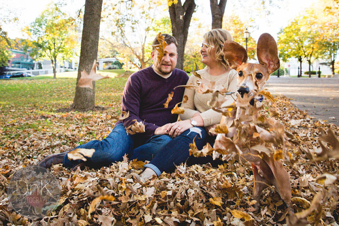Couple's Engagement Pictures Get Photobombed By A Wiener Dog (6 pics)