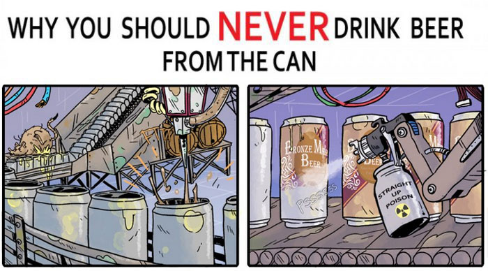 The Shocking Truth About Drinking Beer From A Can (5 pics)