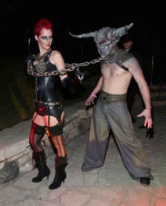 All The Best Pictures From Playboy's Annual Halloween Party (32 pics)