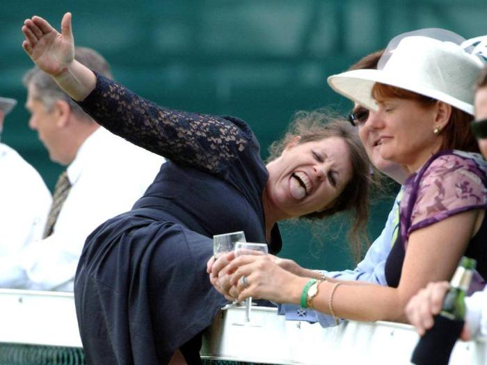 Cars Aren't The Only Thing Getting Wrecked At The Races (20 pics)