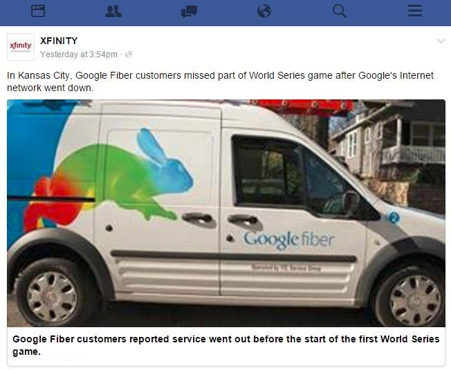 Comcast Tried To Talk Trash About Google Fiber And It Blew Up In Their Face (4 pics)