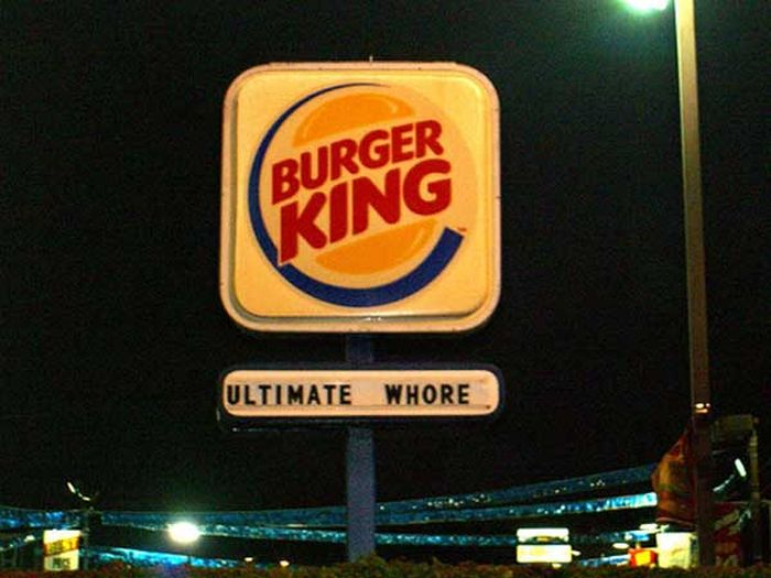 Funny Burger King: Hilarious Fast Food Signs That Would Definitely Make You