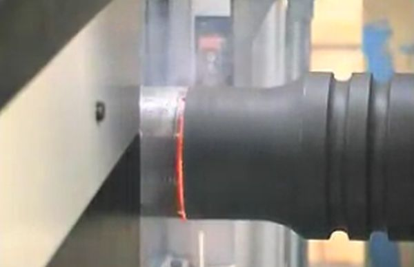 What It Looks Like When Two Pipes Are Welded Together Using Friction Welding (4 gifs)