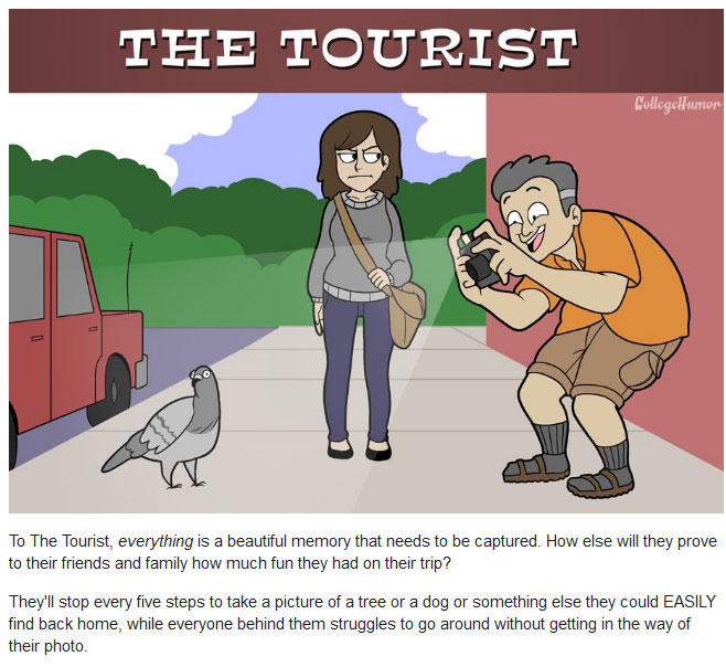 The 6 Types Of Annoying Pedestrians You'll See On The Street (6 pics)