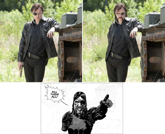 The Differences Between The Walking Dead Characters In The Comics And On TV (8 pics)