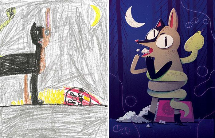 Artists Turns Kids' Monster Doodles Into Works Of Art (26 pics)