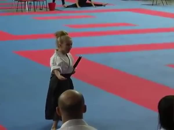 Cool Karate Performance By A Girl