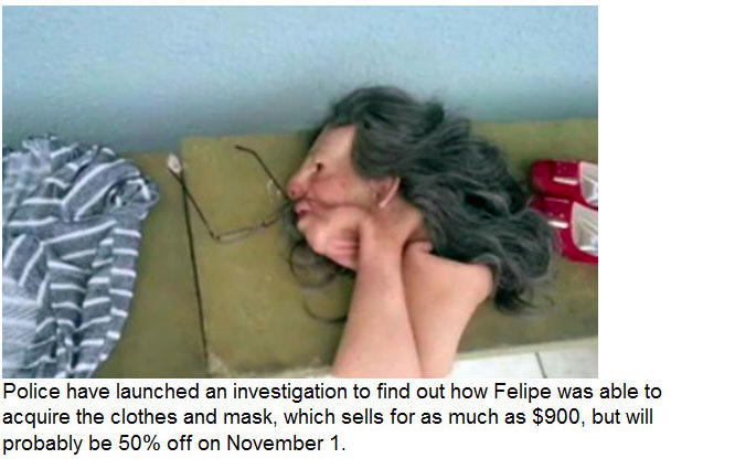 Drug Trafficker Disguises Himself As An Old Lady And Attempts A Prison Break (4 pics)
