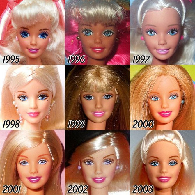 See The Evolution Of Barbie Over The Years (6 pics)