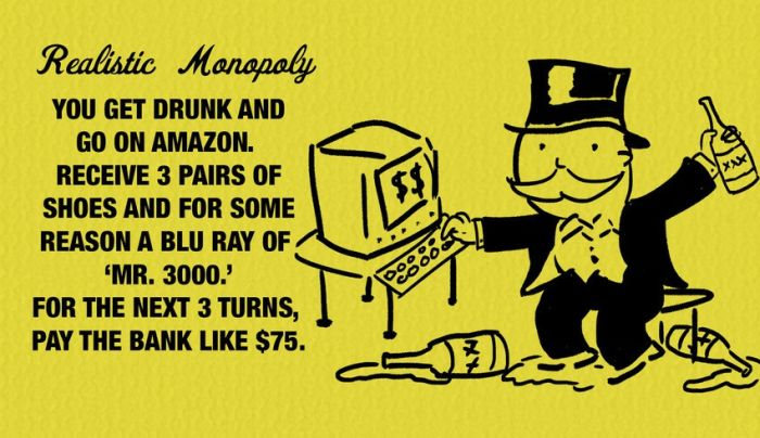 Honest Monopoly Cards That Hit Way Too Close To Home (10 pics)