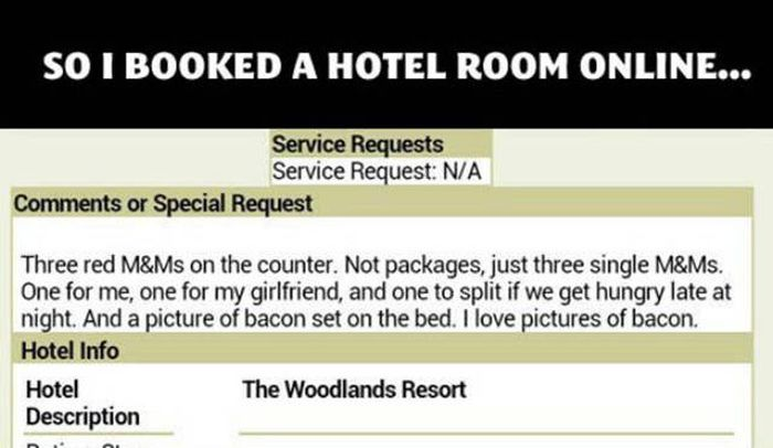 Hotel Staff Goes Out Of Their Way To Fulfill A Guest's Strange Requests (5 pics)