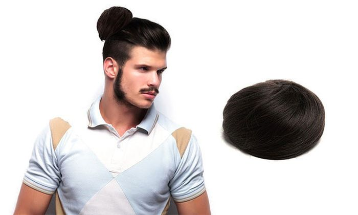 No This Isn't A Joke Clip On Man Buns Are Real (3 pics)