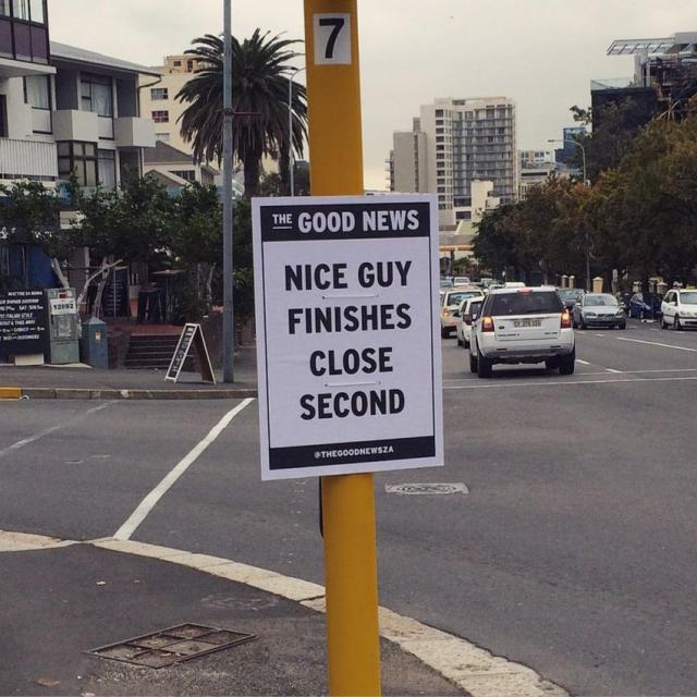 This Artist Is Trying To Make People Smile By Delivering Good News (16 pics)