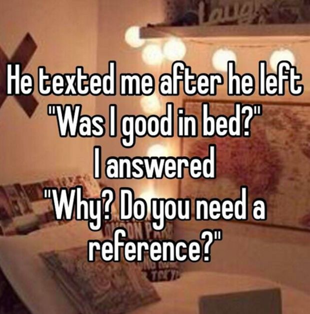 These Are The Most Awkward Things People Have Ever Said After Having Sex (20 pics)