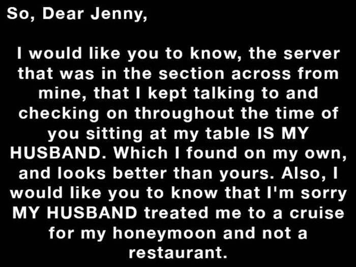 Waitress Has The Perfect Response For A Woman Who Left Her A Rude Note (10 pics)