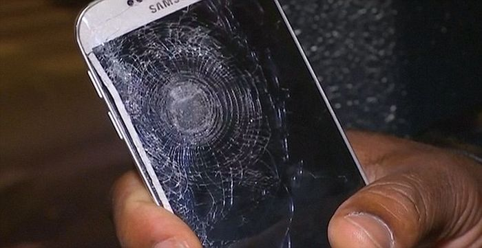 Man Gets Saved By His Mobile Phone During The Paris Attacks (4 pics)