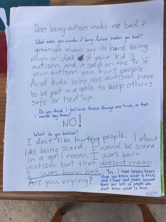 Girl With Autism Writes A Heartbreaking Letter To Her Mother (2 pics)