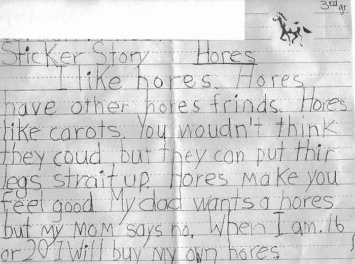 Kids Who Made Innocent But Horrible Spelling Mistakes (21 pics)