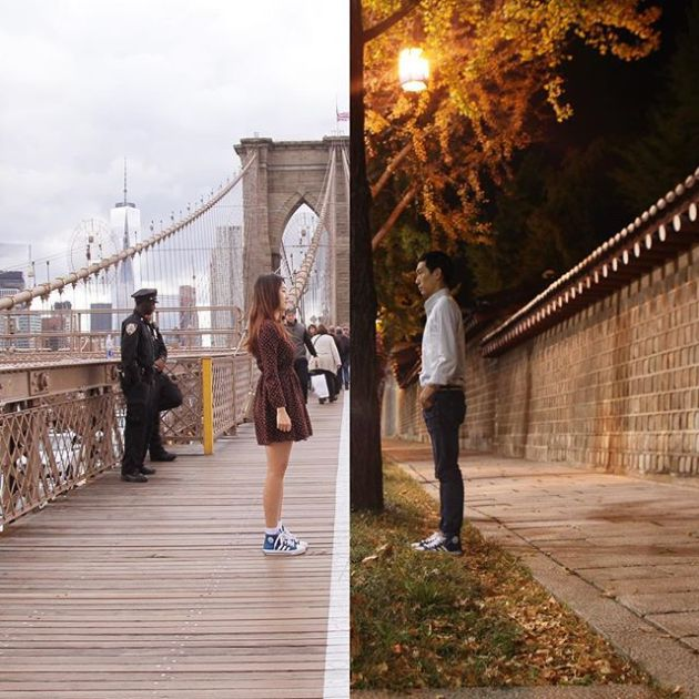 Long Distance Couple Keeps It Real By Creating Combo Pictures (13 pics)