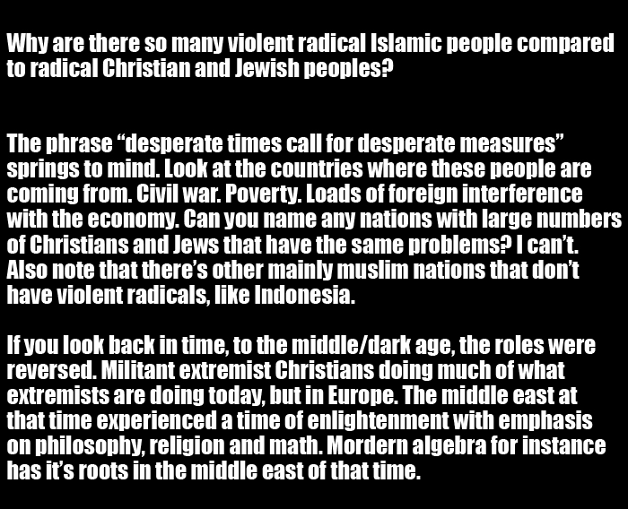 This Is Why There Are So Many Radical Islamic People (2 pics)
