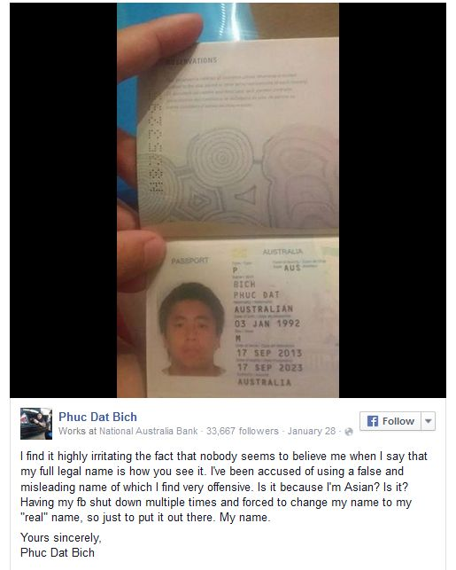 This Man Keeps Getting Banned From Facebook Because Of His Name (2 pics)