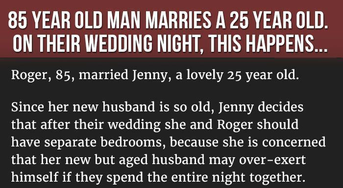 Things Got Strange When An 85 Year Old Man Married A 25 Year Old Woman (3 pics)