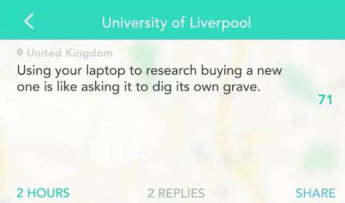 Hilarious Outbursts You Will Only Find On Yik Yak (27 pics)