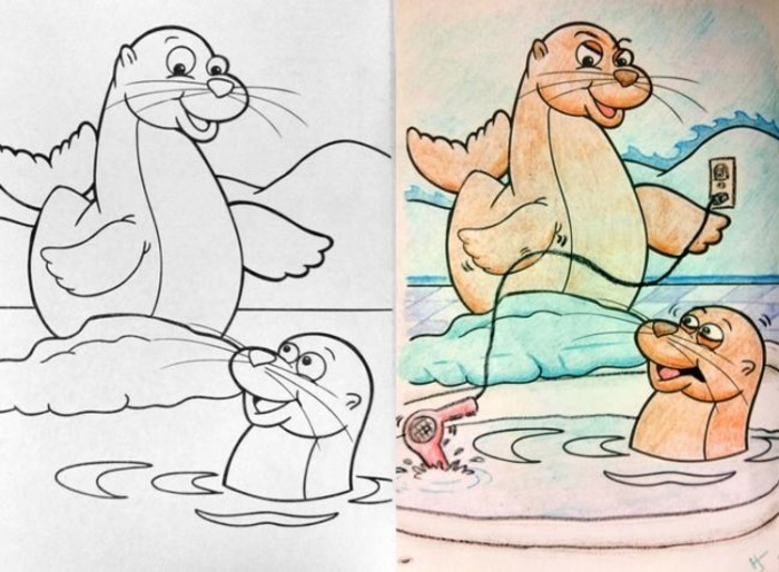 Cute Coloring Book Pictures That Will Destroy Your Childhood 34 Pics